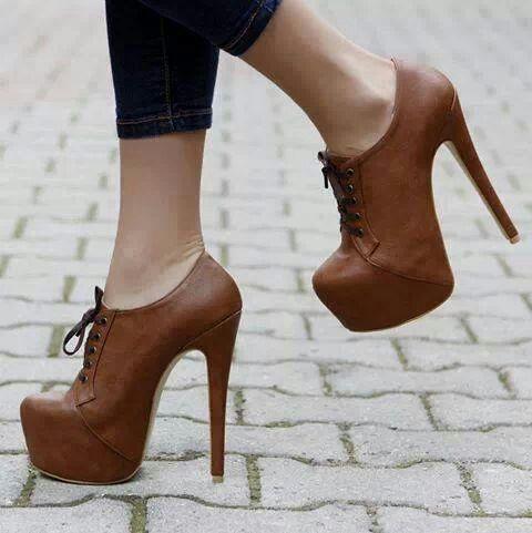 Brown shoes, heels