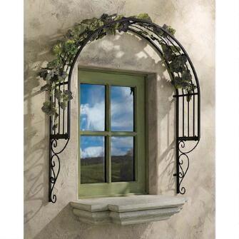 Thornbury Ornamental Metal Garden Window Trellis $99.95
