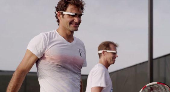 Roger Federer sucumbe a la tentación de entrenar usando las Google Glass