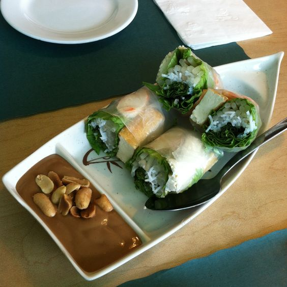 Spring Rolls at Happy Veggie in Redondo Beach, California