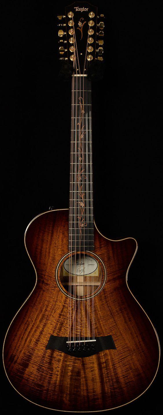 K62CE 12-Fret Koa 12-String Taylor Guitars --- https://www.pinterest.com/lardyfatboy/