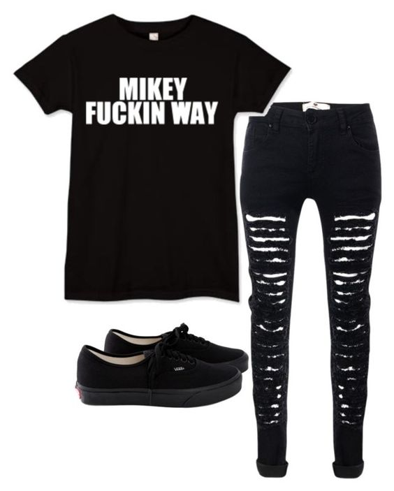 """""""Untitled #348"""" by koolex ❤ liked on Polyvore featuring Mikey and Vans"""