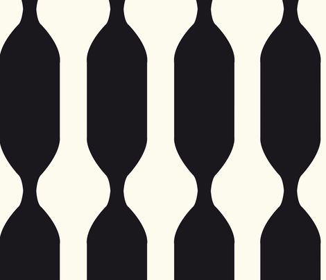 black and white swizzle - clemency_brown - Spoonflower