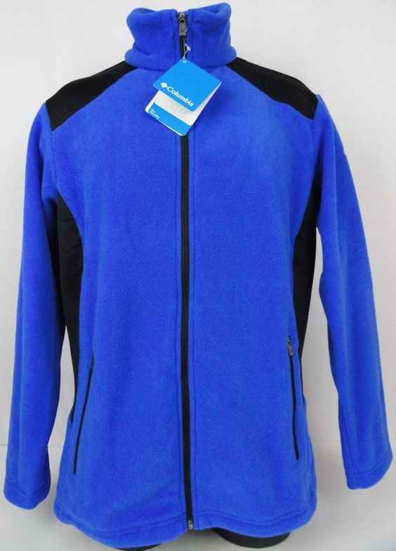 NWT Columbia Womens 1X Plus Fleece Jacket Full Zip The Lodge Royal ...