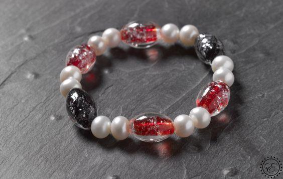 Pulsera de perlas con murano de colores a 10.50€ (rebajada -70%) #rebajas #ofertas #joyas