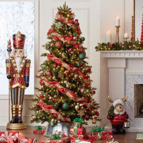 Buy Member S Mark 7 5 Grand Spruce Christmas Tree Christmas Trees At Samsclub Fun Christmas Decorations Christmas Tree Inspiration Ribbon On Christmas Tree