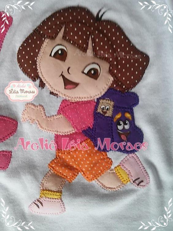 Dora Aventureira em patch aplique