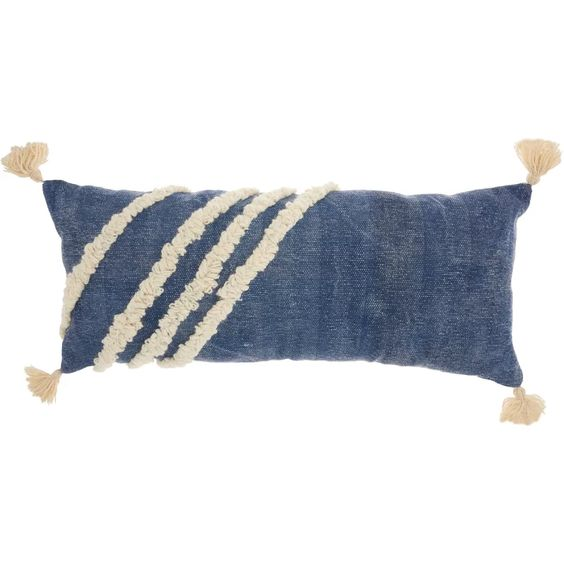 Bungalow Rose Saffron Diagonal Texture 100% Cotton Lumbar Pillow & Reviews | Wayfair