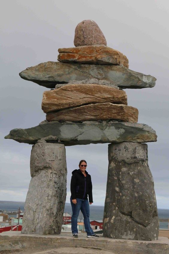 Rankin Inlet, NU • September 2016 • My annual photo with the Inukshuk • Photographer Katelyn