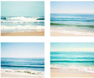 Ocean Photo Set - blue aqua seascape