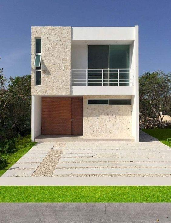 Contoh desain rumah tipe 21 dengan 2 lantai