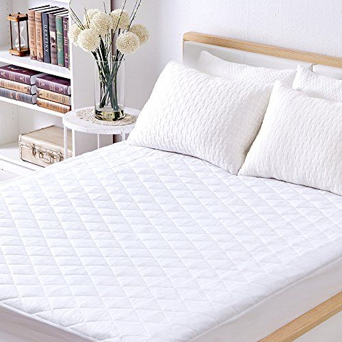 Sable Mattress Pad Protector Queen Size Waterproof Quilted Topper Cover With Fda Certified Hypoallergenic Down Altern With Images Mattress Pad Mattress Pad Cover Mattress