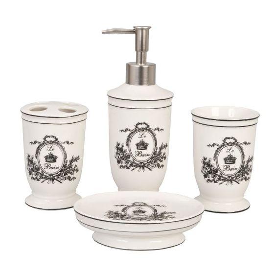 Accessoires salle de bain romantique chic clayre eef - Deco salle de bain accessoires ...