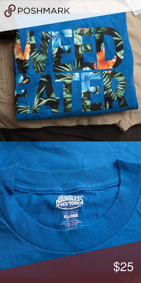 Boundless Nyc Blue Weedeater Tropical T Shirt Boundless Nyc Blue Weedeater T Shirt Comes From A Home With Cats Supreme Shirts Tees With Images Supreme Shirt Nyc T Shirt