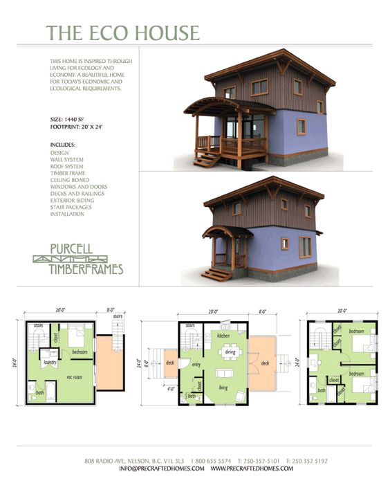 Not too big and not too small house designs pinterest Small eco home plans