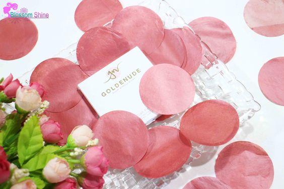 Goldenude Blush Paper berbentuk bulat,mengingatkanku akan rose petals