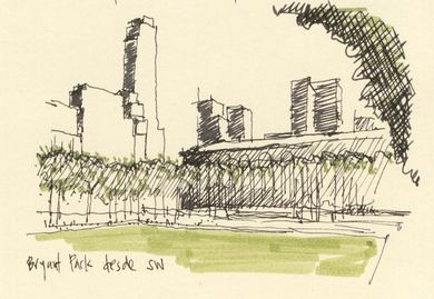 NY & Chicago Architecture Sketches by Cristián Bascuñán, via Behance Simple. Quick.