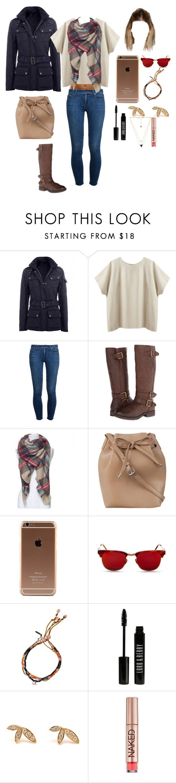 """Untitled #462"" by tate16 ❤ liked on Polyvore featuring Barbour, La Garçonne Moderne, Paige Denim, Naturalizer, ZALORA, Vanguard, Tada & Toy, Lord & Berry, Jagga and Urban Decay"