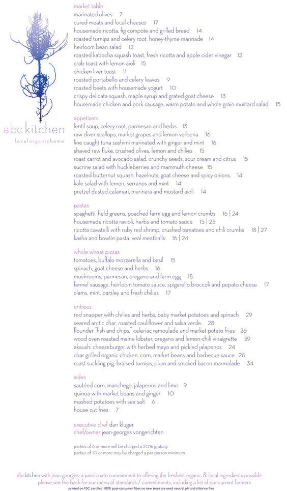 abc kitchen ny ny menus inspiration pinterest ny ny and