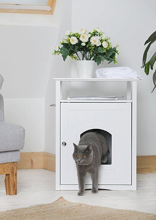 Your Guests Will Never Know This Stylish Nightstand Is Actually A Cat Litter Box Pet Corner Decor Fancy Cats
