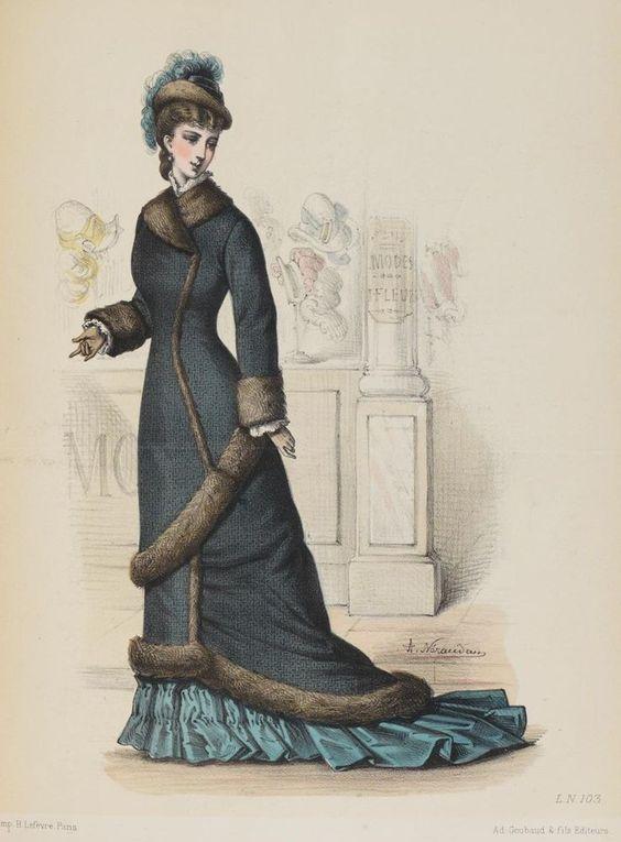 The Me I Saw — Fashion plate, 1876, France.