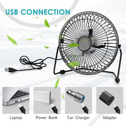 Usb Desk Fan 6 Inch Mini Desk Fan With 4 6ft Usb Cable Portable Personal Fan For Home Office Usb Table Desk Fan Cools You Desk Fan Mini Desk Fan Office Fan