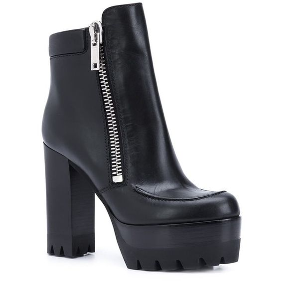 Mulberry platform sole chunky heel boots (3.800 BRL) ❤ liked on Polyvore featuring shoes, boots, black thick heel shoes, thick heel platform shoes, platform boots, mulberry boots and thick heel shoes