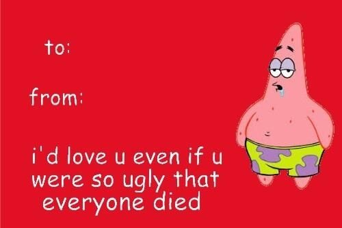 spongebob valentine card tumblr