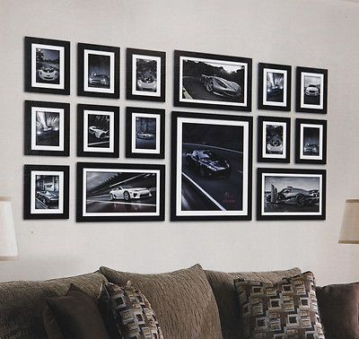 large 15 piece multi picture photo frame frames aperture 130 x 70cm wall set ebay