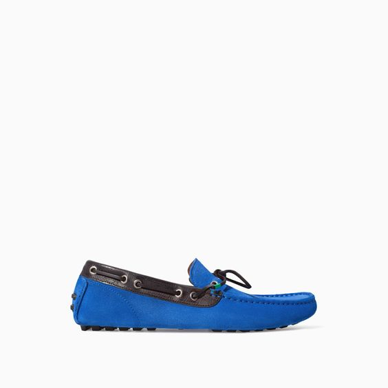 ZARA - MAN - COLORED LEATHER MOCCASIN