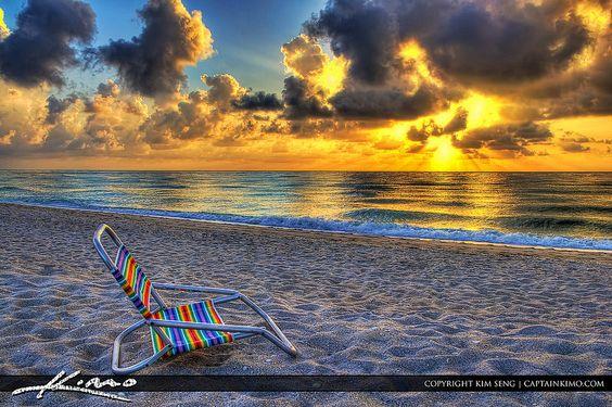 Beach-Chair-Sunrise-Florida