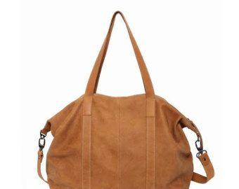 Camel genuine leather shoulder bag, Leather weekender bag, Unisex travel bag, Camel leather handbag, Carry on bag, Gym & Workout bag, TES - Edit Listing - Etsy