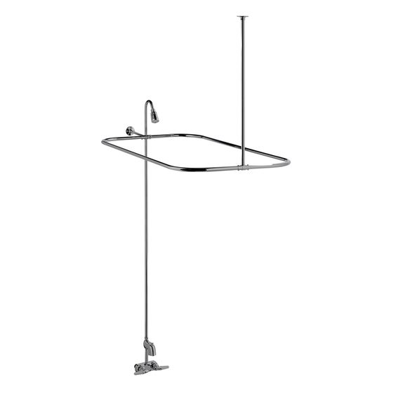 Barclay Polished Chrome 2 Handle Bathtub And Shower Faucet With Single Function Showerhead Shower Faucet Polished Chrome Shower Heads