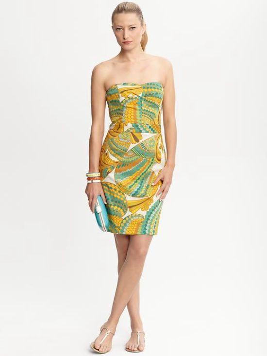Banana Republic Wedding Dress Fish Dress Fashion Friday Dressy Dresses