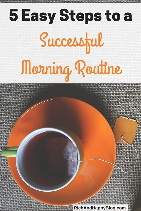 Having a morning routine is one of the keys to becoming successful. This post walks you through five easy steps to create a successful morning routine.