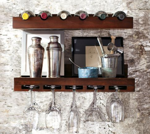 holman entertaining shelves pottery barn wineglass and. Black Bedroom Furniture Sets. Home Design Ideas