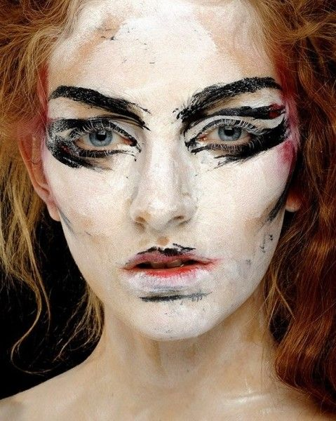 """INSPIRATION: """"WILD"""" VIVIENNE WESTWOOD SS 2014 Freehand features depict controlled chaos. MUA: Val Garland"""