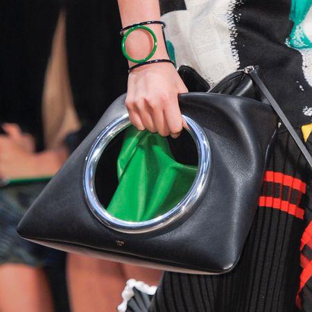 celene handbags - Black and green Eyelet Clutch bag. www.handbag.com | Celine ...