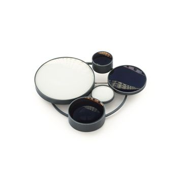"Jiro Kamata  |  Brooch ""Momentopia""  |  Photo lenses, blackened silver"