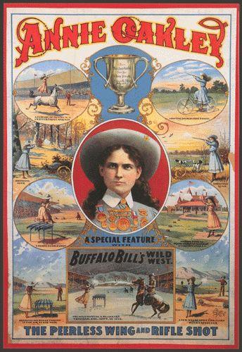 Annie Oakley poster - what? It's not Art Nouveau ?