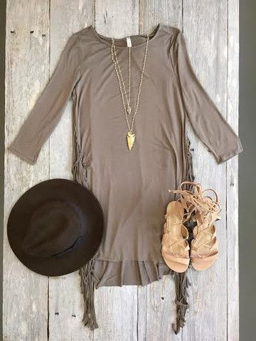 Hillary Side Fringe Dress - GOLDFINCH boutique
