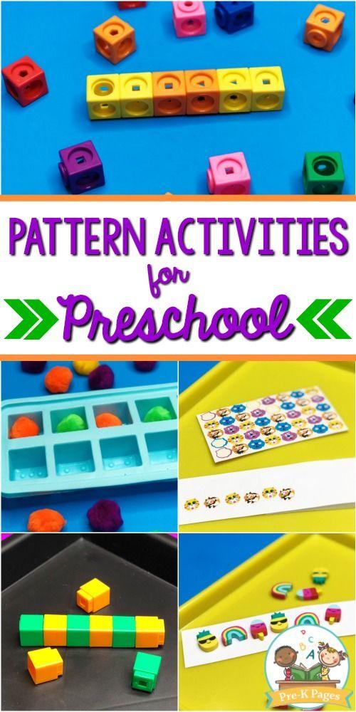 Pattern Activities For Preschool Math Pattern Activities Math Patterns Activities Math Activities Preschool Pattern activities for preschoolers
