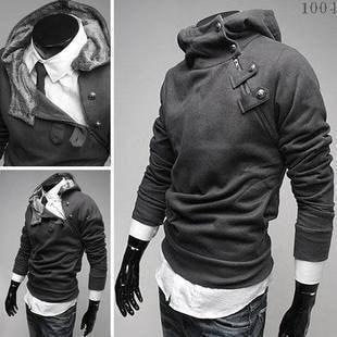 2016 High Collar Dust Coat Hoodie - Coat Jacket - eDealRetail - 3