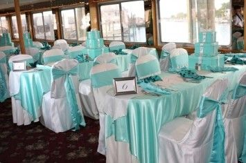 table with sashes