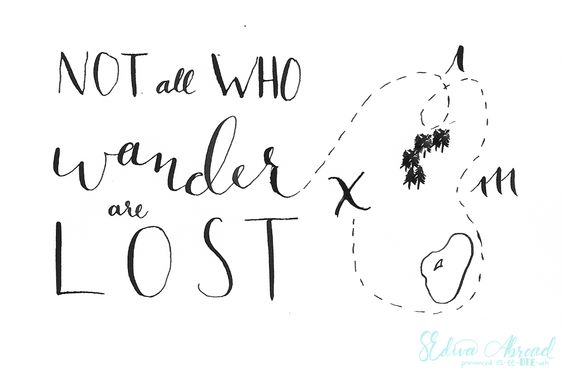 Motivational Monday on SEDivaAbroad.com || Not all who wander are lost lord of the rings inspirational hand lettered quote