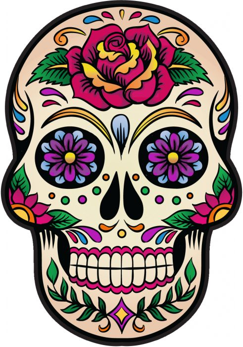 sticker tete de mort mexicaine recherche google projets essayer pinterest stickers. Black Bedroom Furniture Sets. Home Design Ideas