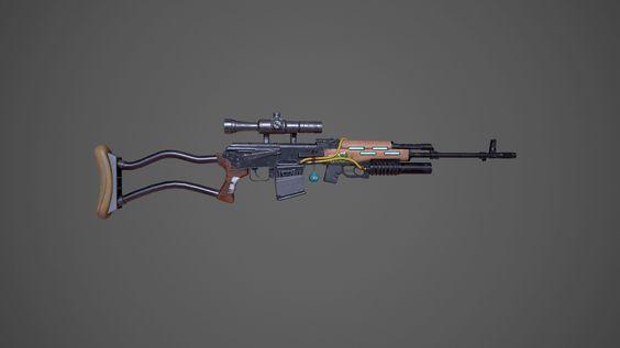 ArtStation - Sniper Rifle, Rhonda Chan