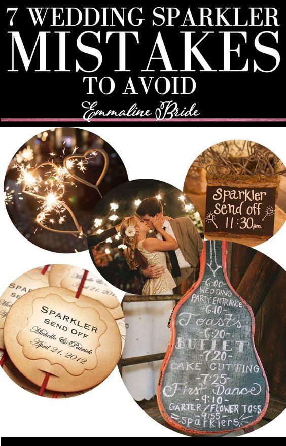 7 Wedding Sparkler Mistakes to Avoid | http://emmalinebride.com/reception/wedding-sparkler-mistakes-to-avoid/