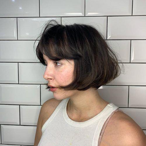 Pin En Bob Haircuts With Bangs