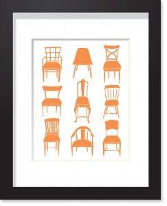 chair-collection-art-print-orange 11x14 $38